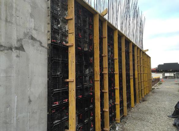 Shotcrete wall set up at 448 Colombo Street
