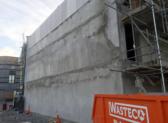 Shotecrete wall at 63 Victoria Street