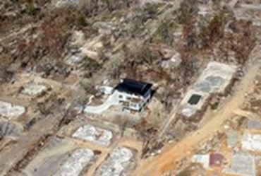 Concrete home left standing after hurricane Katrina