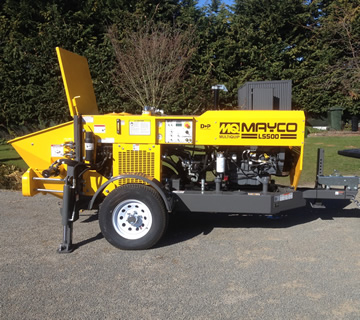 Mayco concrete pumping machine