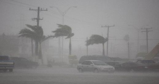 Wind driven rain